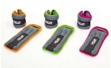 Утяжелители-манжеты для рук и ног ZEL FI-5733-2(LG) (2 x 1кг) (неопрен, метал.шарики, цвет в ассорт)