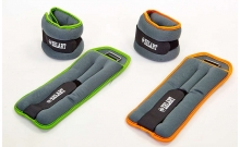 Утяжелители-манжеты для рук и ног ZEL FI-5733-4(LG) (2 x 2кг) (неопрен, метал.шарики, цвет в ассорт)