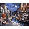 Вечерний город, серия Городской пейзаж, рисование по номерам, 40 х 50 см, Идейка, Вечерний город (KH1129)
