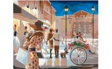 Вечерний променад, серия Городской пейзаж, рисование по номерам, 40 х 50 см, Идейка, KH2123