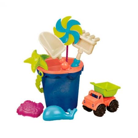 Ведерце Море (9 предметов), набор для игры с песком и водой, Battat, BX1330Z
