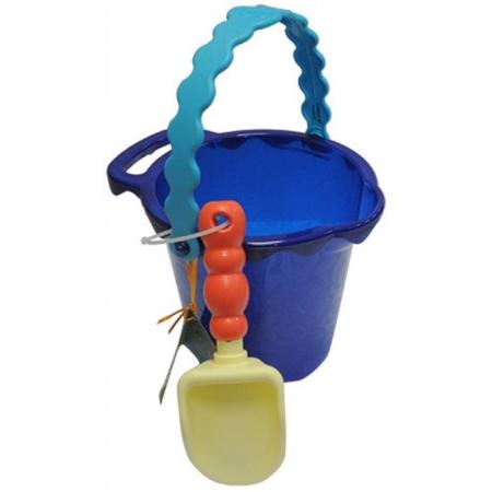 Ведерце с лопаткой (цвет океан), набор для игры с песком и водой, Battat, BX1431Z