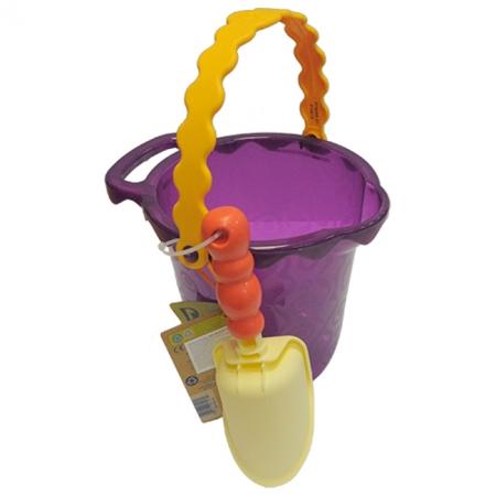 Ведерце с лопаткой (цвет сливовый), набор для игры с песком и водой, Battat, BX1433Z