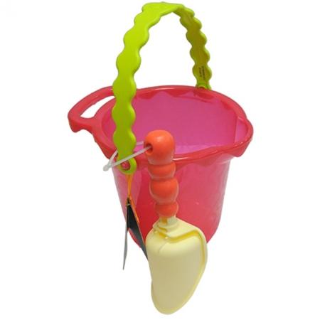Ведерце с лопаткой (цвет томатный), набор для игры с песком и водой - Battat, BX1430Z