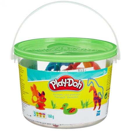 Ведерко пластилина с формочками Сафари, Play-Doh, 23414-2