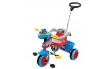 Велосипед 3-колесный с ручкой, красно-синий, TCV T101B R-A