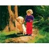 Верный друг, серия Дети, рисование по номерам, 40 х 50 см, Идейка, MG1040