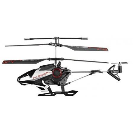 Вертолет на инфракрасном управлении c голосовыми командами (черн. 22см, 3-канала, гироскоп, гарнитура), AULDEY (YW860010-0)