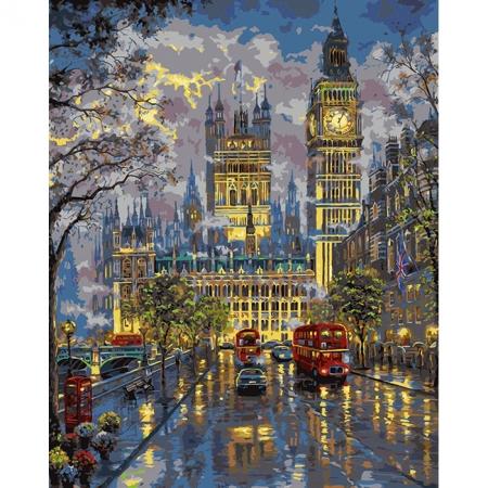 Вестминстерский дворец, серия Городской пейзаж, рисование по номерам, 40 х 50 см, Идейка, Палац Весминстер (KH1151)