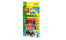 Восковые карандаши Радуга (8 цветов), набор серии My first, SES, 14416S