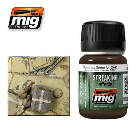 Weathering эффект Ammo A.MIG-1201 Streaking Grime For Dak