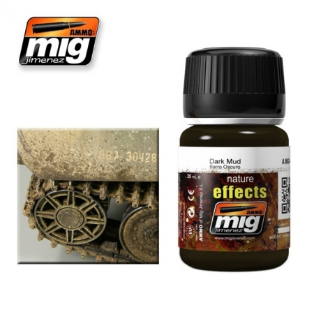 Weathering эффект Ammo A.MIG-1405 Dark Mud