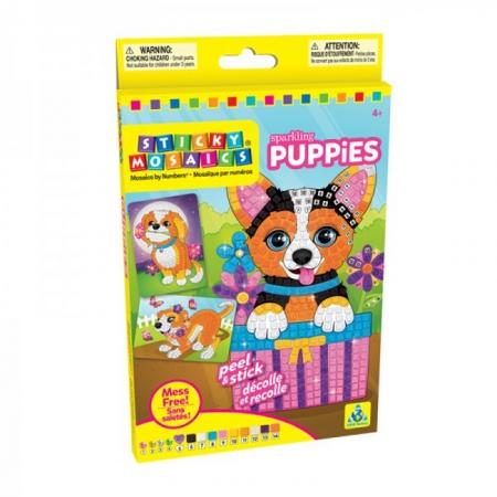 Яркие щенки, стикерная мозаика, Orb Factory, 70236