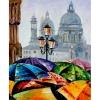 Яркие зонтики, серия Городской пейзаж, рисование по номерам, 40 х 50 см, Идейка, KH2136