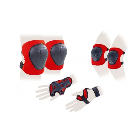 Защита спорт. наколенники, налокот., перчатки детская BQ-118 (р-р 5-8лет, розовая, синяя, красная)