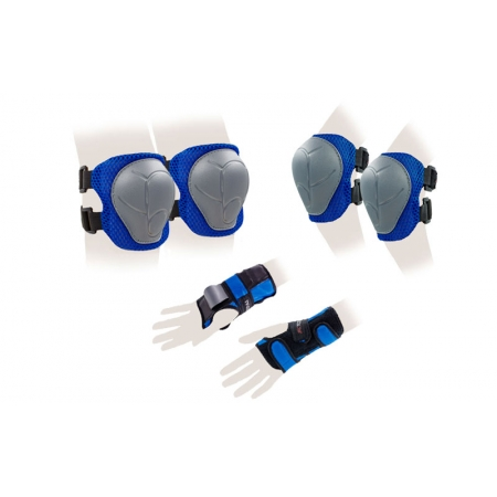 Защита спорт. наколенники, налокот., перчатки детская KEPAI LP-303B-S (р-р S-3-7лет, синий)