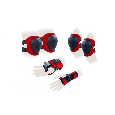 Защита спорт. наколенники, налокот., перчатки детская KEPAI LP-303R-S (р-р S-3-7лет, красный)