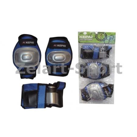 Защита спорт. наколенники, налокот., перчатки детская KEPAI LP-620-M (р-р M-8-12лет, синий)