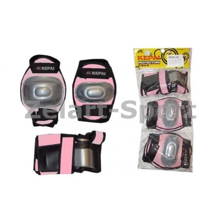 Защита спорт. наколенники, налокот., перчатки детская KEPAI LP-620-S (р-р S-3-7лет, розовый)
