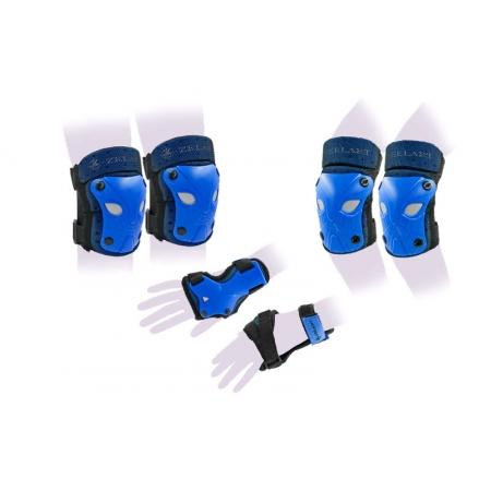 Защита спорт. наколенники, налокот., перчатки детская ZEL SK-3503B-M (р-р M-8-12лет, синий)