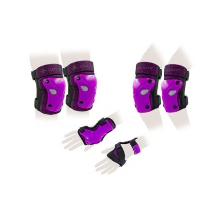 Защита спорт. наколенники, налокот., перчатки детская ZEL SK-3503V-M (р-р M-8-12лет, фиолетовая)