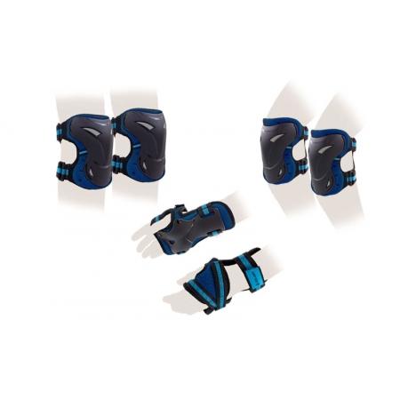 Защита спорт. наколенники, налокот., перчатки для взрослых ZEL SK-3505B-L (р-р L, синяя)