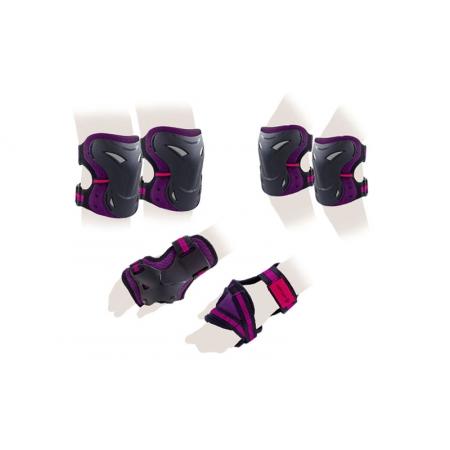 Защита спорт. наколенники, налокот., перчатки для взрослых ZEL SK-3505V-M (р-р М, фиолетовая)
