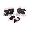 Защита спорт. наколенники, налокот., перчатки для взрослых ZEL SK-4677R-M GRACE (р-р M, красная)