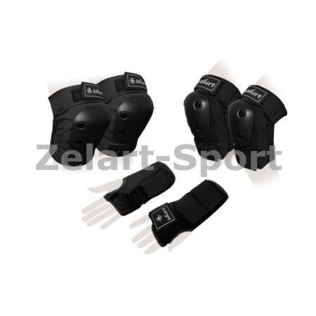 Защита спорт. наколенники, налокот., перчатки для взрослых ZEL SK-4680BK-M METROPOLIS (р-р M,черная)