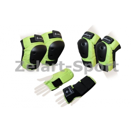 Защита спорт. наколенники, налокот., перчатки для взрослых ZEL SK-4680G-M METROPOLIS (р-р M,зеленая)
