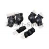 Защита спорт. наколенники, налокот., перчатки для взрослых ZEL SK-4681BK-M (р-р M, черная)
