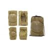 Защита тактическая наколенники, налокотники BC-4267-H (ABS, полиэстер 600D, светлый хаки)