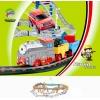 Железная дорога и автострада - набор с поездом и машинкой, 74 х 60 см, LiXin, 9910