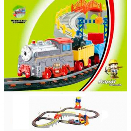 Железная дорога с поездом, 103 х 95 см, LiXin, 9904