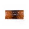 Женская кожаная ключница-кошелек WANLIMA (ВАНЛИМА) W72092420600-coffee