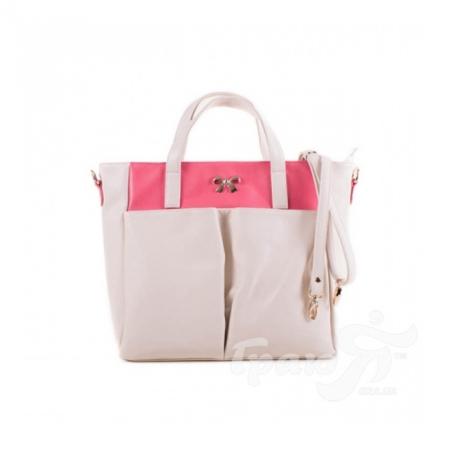 Женская сумка из качественного кожезаменителя FARFALLA (ФАРФАЛЛА) WR82307-pink