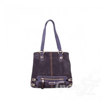 Женская сумка из качественного кожезаменителя RONAERDO (РОНАЭРДО) BAL0205-balck-blue