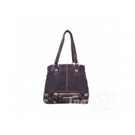 Женская сумка из качественного кожезаменителя RONAERDO (РОНАЭРДО) BAL0205-black