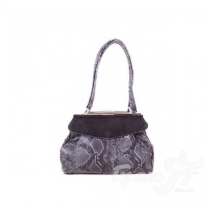 Женская сумка из качественного кожезаменителя со вставками замша CICERONIAN (ЦИЦЕРОНИАН) WD2117-grey
