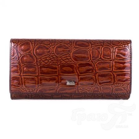 Женский кожаный кошелек WANLIMA (ВАНЛИМА) W71041560014-coffee