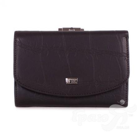 Женский кожаный кошелек WANLIMA (ВАНЛИМА) W72042410473-black
