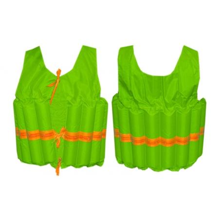 Жилет спасательный детский PL-3383-14 (EPE, PL, р-р M-6-10лет, оранжевый, салатовый)