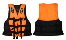 Жилет спасательный взрослый DL-10 (EVA, ремни-PL, р-р L, XL, 2XL, черный-оранжевый, черный-желтый)