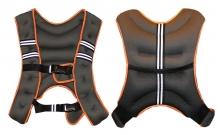 Жилет утяжелитель макс.вес 8кг XB9300 (нейлон, PL, песок, серый-оранжевый)