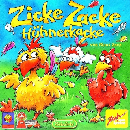 Zicke Zacke Huhnerkacke (Цыплячьи бега) - Настольная игра