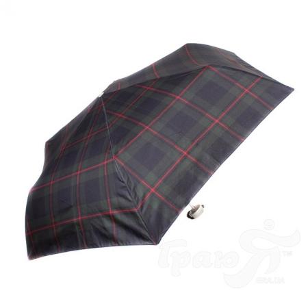 Зонт мужской механический компактный облегченный HAPPY RAIN (ХЕППИ РЭЙН) U63959-green-red-kletka