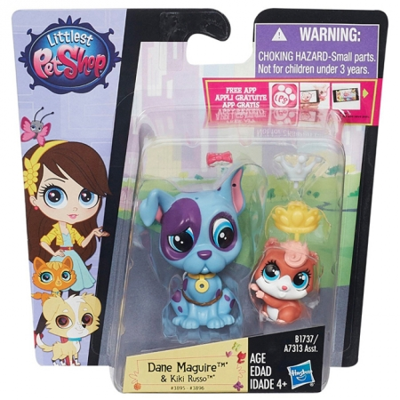 Зверюшка и малыш Dane Maguire и Kiki Russo, Littlest Pet Shop, Hasbro, Dane Maguire+ Kiki Russo, A7313-9